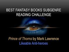 LIKEABLE ANTI-HEROES | Prince of Thorns | BFB Subgenre Reading Challenge #amreading #books