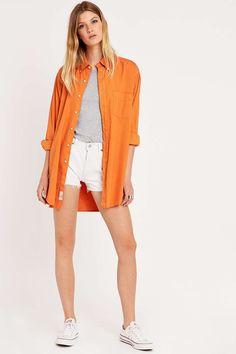 Urban Renewal Vintage Customised – Hemd in Orange - urban outfitters