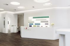 """Ceiling lights @""""My Menicon"""" Showroom and Training Center by STLH, Berlin"""