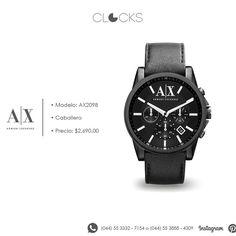 #ArmaniExchange a $2,690 pesos. #Red #SoloEnClocks http://instagram.com/clocksrelojes https://www.facebook.com/clocksrelojes https://twitter.com/ClocksRelojes