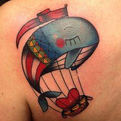 Whale hot air balloon