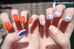 Dutch holiday: Koninginnedag Nagels (Queen's Day nails)
