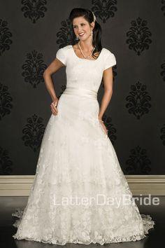 Modest Wedding Dress, Nicola | LatterDayBride & Prom