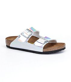 Birkenstock Girls Arizona Metallic Sandals #Dillards