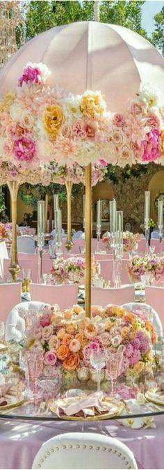 unusual table centerpiece great idea for a bridal shower celebration