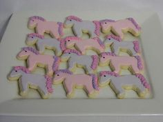 My Little Pony party food - pony cookies