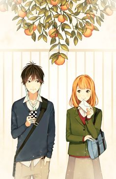My new anime obsession has to be Orange Haven't read the manga orange anime - Orange Things Anime Cosplay, Orange Anime, Manga Art, Anime Art, Anime Tumblr, Cute Love Couple, A Silent Voice, Anime Kawaii, Animes Wallpapers