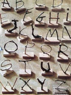 Even More Forest School Activities Make Your Own Stick Alphabet