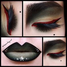 9 Unique Makeup Looks - Gothic Life Goth Makeup, Makeup Art, Beauty Makeup, Mac Lashes, Green Lipstick, Lipstick Mac, Melt Cosmetics, Painted Ladies, Fantasy Makeup