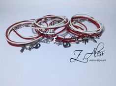 Leather bracelets with steel accessories by Z.Aless.