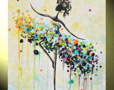 GICLEE PRINT Art Abstract Painting Dancer von ChristineKrainock
