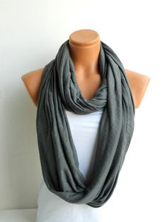 Infinity Scarves Nomad scarftextile Grey by WomensScarvesTrend, $22.00