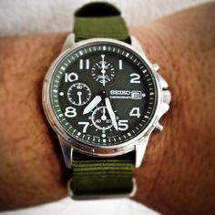 Seiko Military Quartz Chronograph