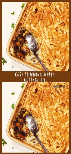 This Slimming World Cottage pie contains a juicy beef mince filling with flavourful vegetables that are hidden under a fluffy pile of mashed potatoes. Simple and delicious.  #cottagepie #slimmingworld #slimmingworlddinner #molliesmenu #cosyfood #britishpie #cosycottagepie #autumnfood #slimmingworlders #healthyfood #slimmingfood #britishcuisine