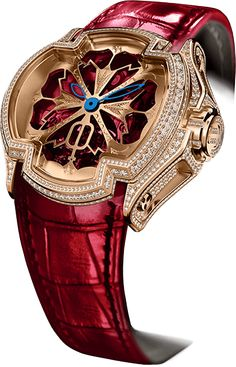 Cecil Purnell Watch Lucky Lady Red Pave