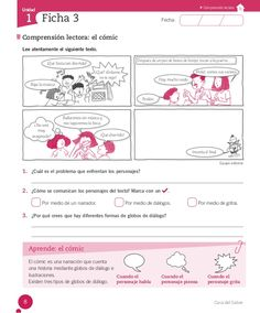 Cuaderno Actividades Lenguaje 3º My Job, Teaching Resources, Fails, Classroom, Texts, Spanish Worksheets, Infant Learning Activities, Reading Comprehension, Do Crafts