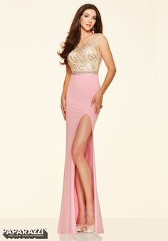 Prom Dress  Beaded Net and Jersey