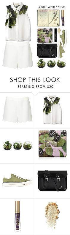 """Flora"" by alinabathory ❤ liked on Polyvore featuring Valentino, Elle Sasson, Jo Malone, Moleskine, Converse, Too Faced Cosmetics and Lancôme"