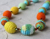 Crocheted necklace @Kathy Wells