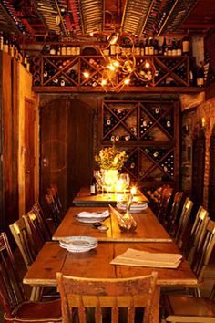 """""""This place is essentially the definition of romantic and cozy. Super rustic and the food is so delicious."""" 47 Bond St., ilbuco.com."""