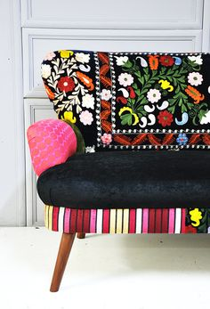 Patchwork sofa with suzani fabrics  1 by namedesignstudio on Etsy