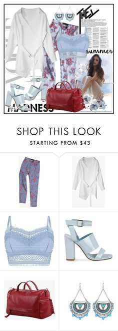 """""""Striped and Floral Tailored Pants"""" by lip-balm ❤ liked on Polyvore featuring Lipsy, modern, shoponline and Genuine_People"""