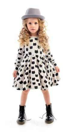 Little Bear Dress with Petticoat and Freddy Fedora | Rock Your Kid winter 2014 | Girls' Fashion | www.rockyourbaby.com #KidsFashion #Childrencoatsgirlfashion