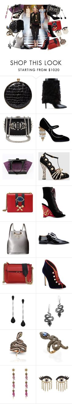"""Untitled #974"" by citychic4ever ❤ liked on Polyvore featuring Alexander McQueen, Sergio Rossi, Christian Louboutin, Dolce&Gabbana, Nadia Gabriella, Gucci, Prada, Charlotte Olympia, Maison Margiela and Marni"