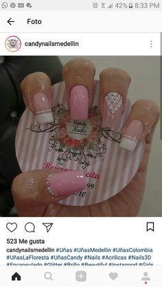 Pink Nail Designs, Beautiful Nail Designs, Sexy Nails, Lily, Nail Art, Tattoos, Pretty, Beauty, Art Nails