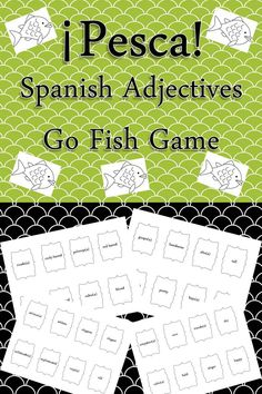 My students love playing this game! Fun way to play around with #adjective vocabulary in #Spanish!