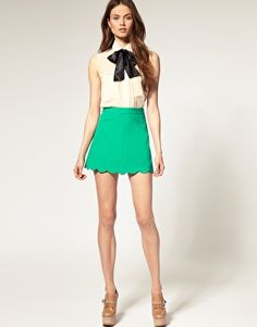 ASOS Scalloped Skirt