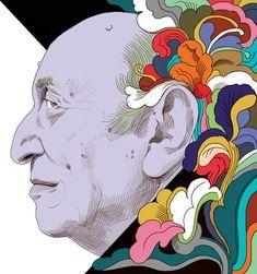 86 Year Old Milton Glaser Still Has Designs on Changing the World. Illustration: Jeanne Detallante