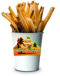 Rasta Burger French Fries (small/child size) by MrAngryDog