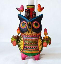 Ceramic Owl Sculpture by Tomas Hernandez Baez