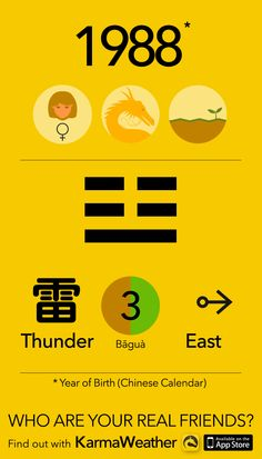 Feng Shui BaGua basics if you're a woman born in 1988 (Chinese zodiac calendar), year of the Earth Dragon, by Karma Weather #KarmaWeather