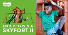 #Win a Backyard Discovery Skyfort II Swing Set, Including Installation (a $2,178 Value)!  http://swee.ps/dRabZLrQA 9/30