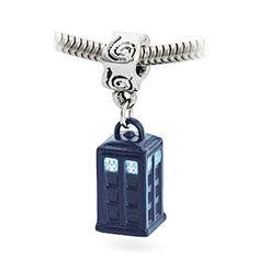 Blue Enamel TARDIS Dangle Bead woooooh totally want for my pandora.....