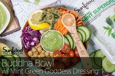 Nourish Buddha Bowl with Mint Green Goddess Dressing
