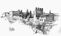 dibujo en rotulador arquitectura - Buscar con Google