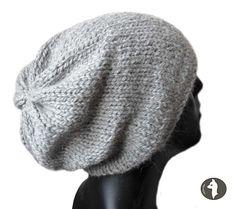 Baby Alpaka Mens Slouch Beanie hat, Urban Style, Natural Fibre