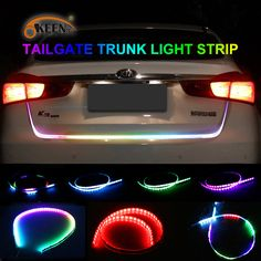 Car Led Light Strips   Check Discount OKEEN 47.6inch car-styling turn signal strip led trunk Tailgate Light Colorful flash LED  Light  Bar Reverse Tail for car #Light #Strips #Check #Discount #OKEEN #inch #styling #turn #signal #strip #trunk #Tailgate #Colorful #flash #Reverse #Tail