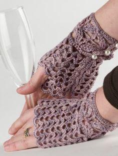 Dora Ohrenstein Patterns - Afternoon Tea Fingerless Gloves Pattern