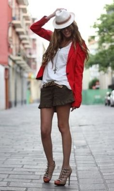 Great transition from summer to fall. When it gets cooler you could pair this with tights and a cute lace up bootie.