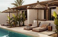 Casa Cook Kos With Greek Architectural Style – Interior Ideas. Vacation Home. Bohemian Hotel, Hotel Grecia, Kos Hotel, Outdoor Spaces, Outdoor Living, Outdoor Decor, Scorpios Mykonos, Wabi Sabi, Greek Architectural Style