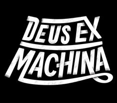 Type and lettering for motorcycle company, Deus Ex Machina.