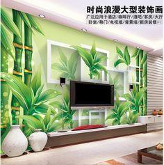 Дешевое Бесплатная доставка современные настенные 3D фрески обои , зеленый бамбук 3D фрески для тв диван стены фон papel де parede homedecoration, Купить Качество Обои непосредственно из китайских фирмах-поставщиках:                                                     Примечание: