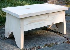 DIY Wooden Footstool - Learn how to make your own! virginiasweetpea.com