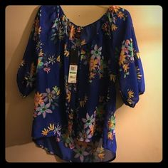 Shirt  Cute sheer floral shirt ! I ship very quickly! Ultra Flirt Tops Blouses
