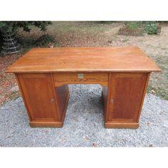 Bureau ancien en bois de chne pin des annes 60 bureau ancien