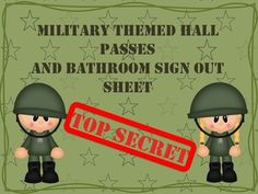 Bathroom Sign Up Sheet room themes - camo from 1st grade teacher on teachersnotebook
